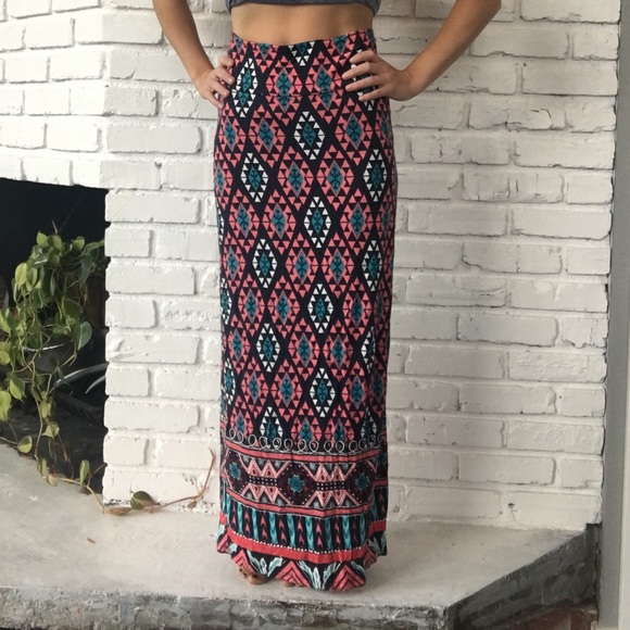 9b319dc79 Rue21 Skirts | Rue 21 Tribal Maxi Skirt High Waist | Poshmark